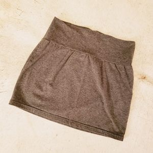 Express Grey Casual Stretchy Mini Skirt Size: S